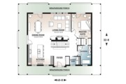 Country Style House Plan - 3 Beds 2 Baths 2299 Sq/Ft Plan #23-2091 Floor Plan - Main Floor Plan