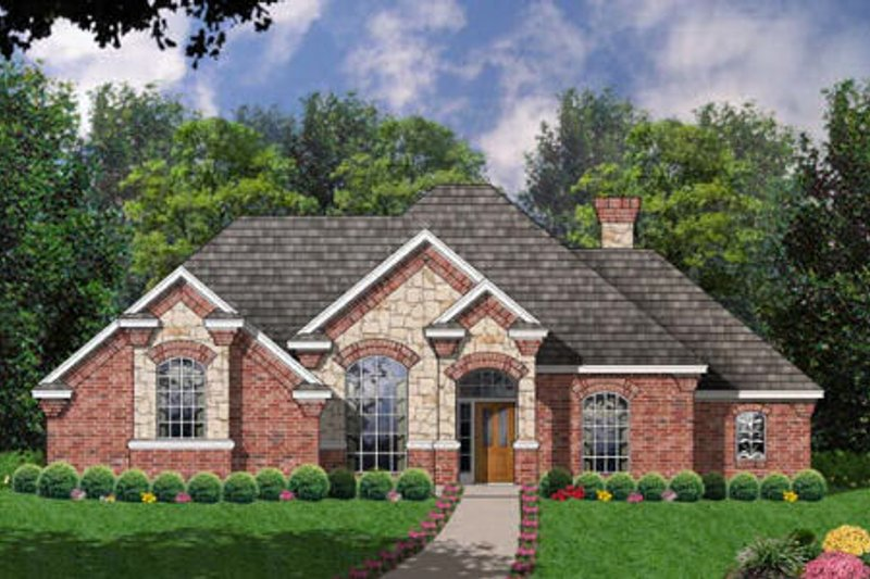 European Exterior - Front Elevation Plan #40-160 - Houseplans.com