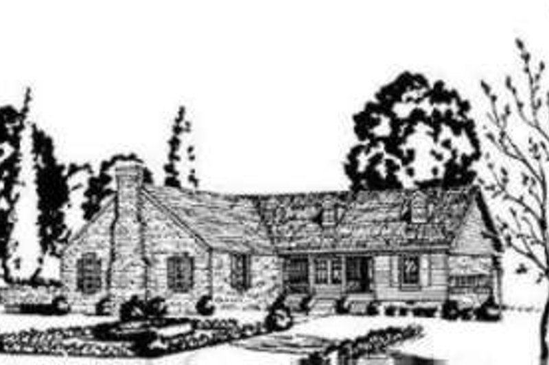 Southern Style House Plan - 4 Beds 2 Baths 1400 Sq/Ft Plan #36-404 Exterior - Front Elevation