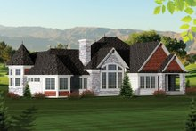 Dream House Plan - Ranch Exterior - Rear Elevation Plan #70-1061