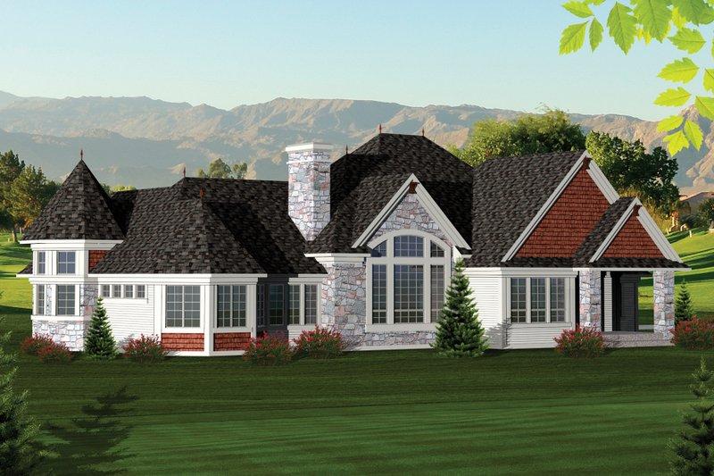 Ranch Exterior - Rear Elevation Plan #70-1061 - Houseplans.com