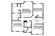 Traditional Style House Plan - 4 Beds 2.5 Baths 2019 Sq/Ft Plan #20-2144 Floor Plan - Upper Floor
