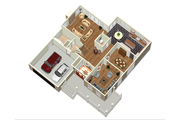 Country Style House Plan - 4 Beds 2 Baths 3500 Sq/Ft Plan #25-4684 Floor Plan - Main Floor Plan