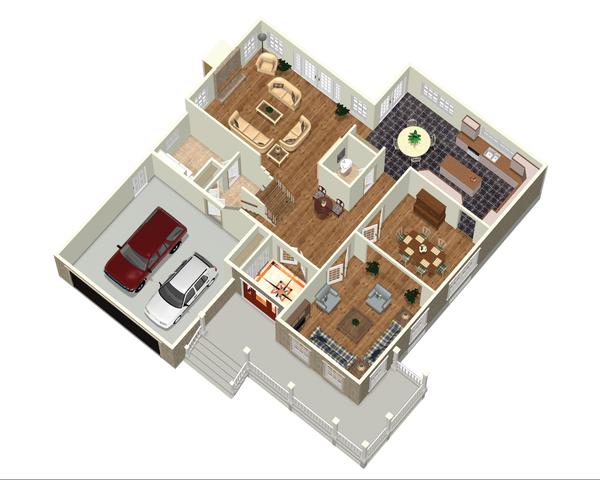Country Floor Plan - Main Floor Plan Plan #25-4684