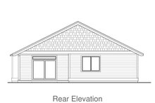 Home Plan - Craftsman Exterior - Rear Elevation Plan #53-607