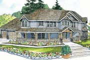 Craftsman Style House Plan - 4 Beds 3.5 Baths 3031 Sq/Ft Plan #124-507 Exterior - Front Elevation