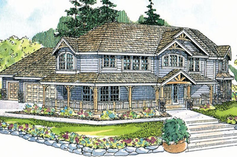 Craftsman Exterior - Front Elevation Plan #124-507