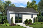 Craftsman Style House Plan - 0 Beds 1 Baths 322 Sq/Ft Plan #48-955 Exterior - Front Elevation