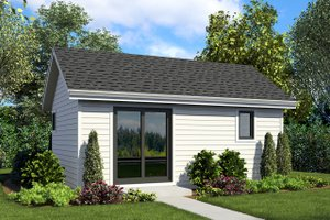 Craftsman Exterior - Front Elevation Plan #48-955