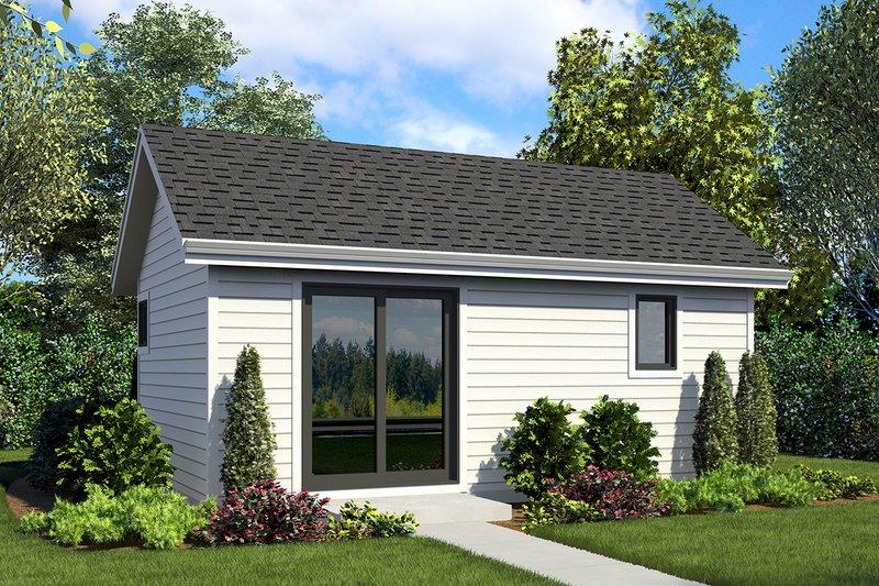 Craftsman Style House Plan - 0 Beds 1 Baths 322 Sq/Ft Plan #48-955