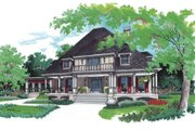 Southern Style House Plan - 4 Beds 3.5 Baths 3389 Sq/Ft Plan #45-358 Exterior - Front Elevation