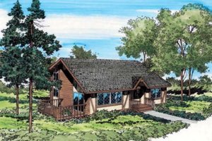 Contemporary Exterior - Front Elevation Plan #312-209