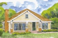 Country Exterior - Front Elevation Plan #410-134