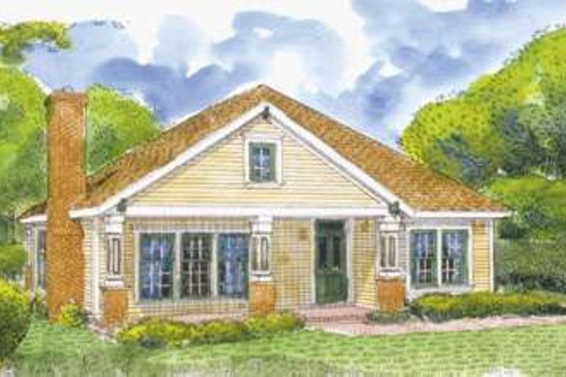 Country Exterior - Front Elevation Plan #410-134 - Houseplans.com