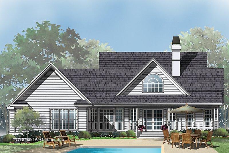 Country Exterior - Rear Elevation Plan #929-344 - Houseplans.com