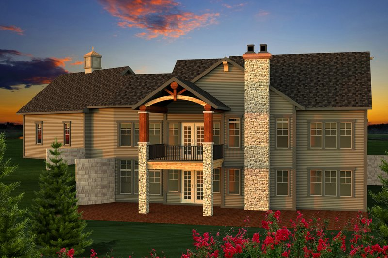 Ranch Exterior - Rear Elevation Plan #70-1173 - Houseplans.com