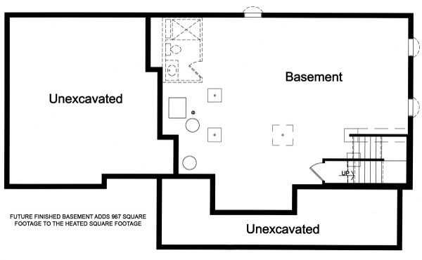 Dream House Plan - Traditional Floor Plan - Lower Floor Plan #46-496