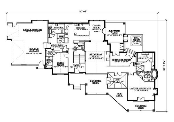 Traditional Floor Plan - Main Floor Plan Plan #5-331