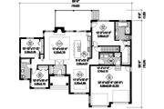 Ranch Style House Plan - 3 Beds 2 Baths 1836 Sq/Ft Plan #25-4456 Floor Plan - Main Floor Plan