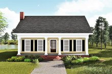 Dream House Plan - Traditional Exterior - Front Elevation Plan #44-185