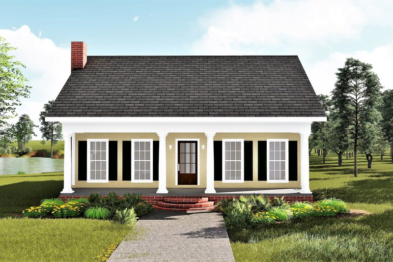 Traditional Style House Plan - 3 Beds 2 Baths 1485 Sq/Ft Plan #44-185 Exterior - Front Elevation