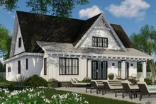 Farmhouse Exterior - Rear Elevation Plan #51-1147