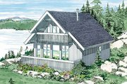 Cabin Style House Plan - 3 Beds 1.5 Baths 1381 Sq/Ft Plan #47-107 Exterior - Front Elevation