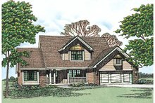Home Plan - Traditional Exterior - Front Elevation Plan #20-201