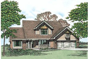 Traditional Exterior - Front Elevation Plan #20-201