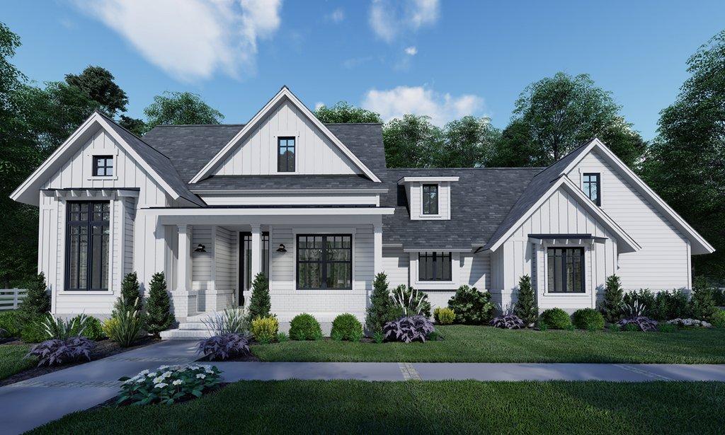 Farmhouse Style House Plan 3 Beds 2 Baths 1486 Sq Ft