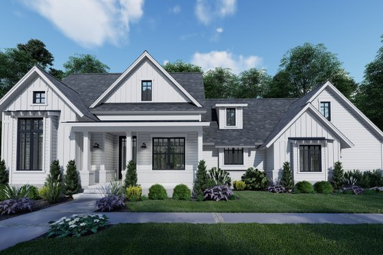 Farmhouse Exterior - Front Elevation Plan #120-262