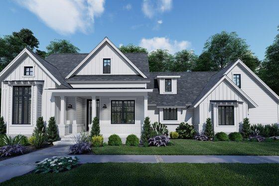 Architectural House Design - Farmhouse Exterior - Front Elevation Plan #120-262