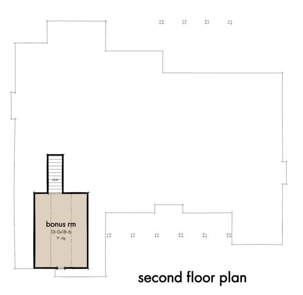 Farmhouse Floor Plan - Upper Floor Plan #120-265