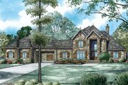 European Style House Plan - 4 Beds 4.5 Baths 4949 Sq/Ft Plan #17-2489