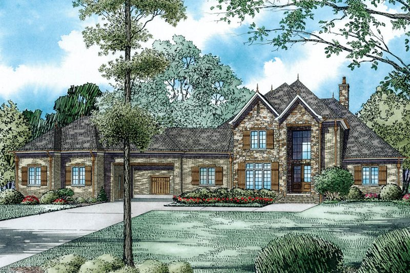 European Exterior - Other Elevation Plan #17-2489 - Houseplans.com
