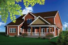 House Plan Design - Exterior - Rear Elevation Plan #70-1104