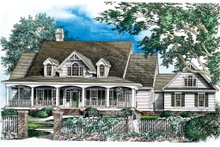 House Plan Design - Country Exterior - Front Elevation Plan #929-18
