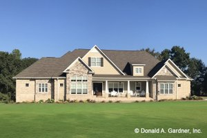 Ranch Exterior - Front Elevation Plan #929-1019