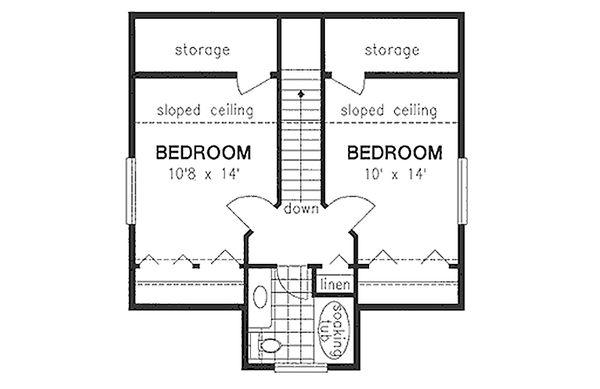 Country Floor Plan - Upper Floor Plan Plan #18-2001