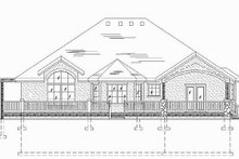 Dream House Plan - Traditional Exterior - Rear Elevation Plan #5-471