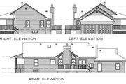 Ranch Style House Plan - 3 Beds 2 Baths 1578 Sq/Ft Plan #47-334 Exterior - Rear Elevation