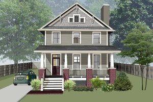 Craftsman Exterior - Front Elevation Plan #79-306