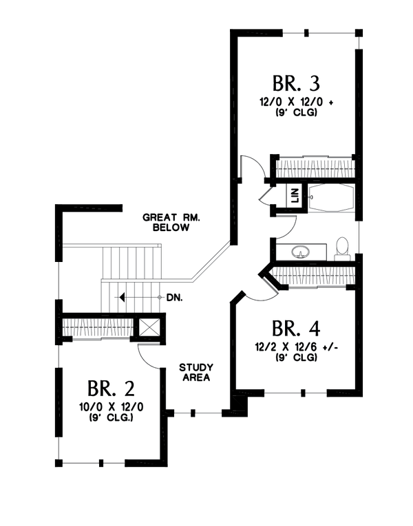 Home Plan - Contemporary Floor Plan - Upper Floor Plan #48-1013