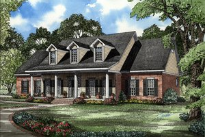 Country Exterior - Front Elevation Plan #17-205