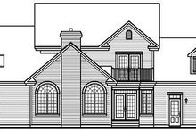 Colonial Exterior - Rear Elevation Plan #23-724