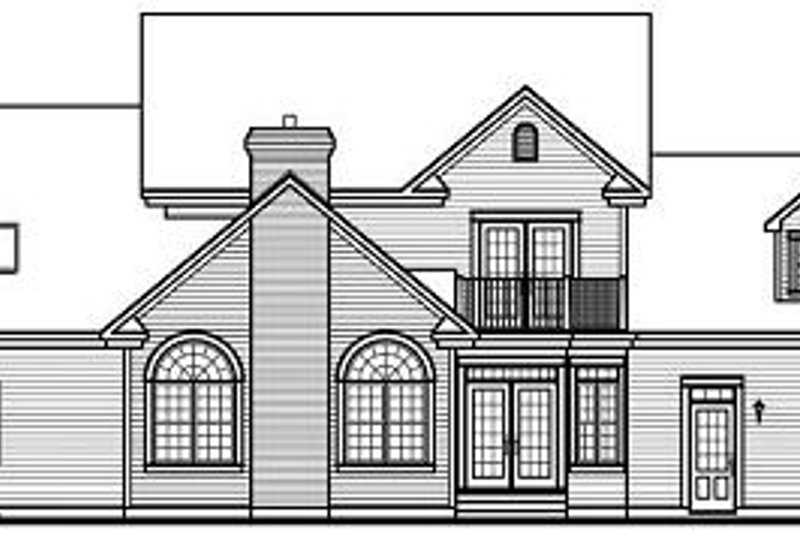 Colonial Exterior - Rear Elevation Plan #23-724 - Houseplans.com
