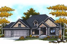 Craftsman Exterior - Front Elevation Plan #70-871