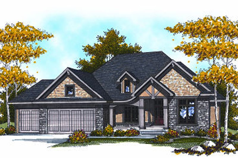 Craftsman Exterior - Front Elevation Plan #70-871