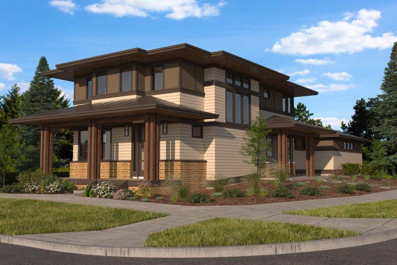 Dream House Plan - Prairie Exterior - Front Elevation Plan #895-125