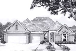 Traditional Exterior - Front Elevation Plan #310-914